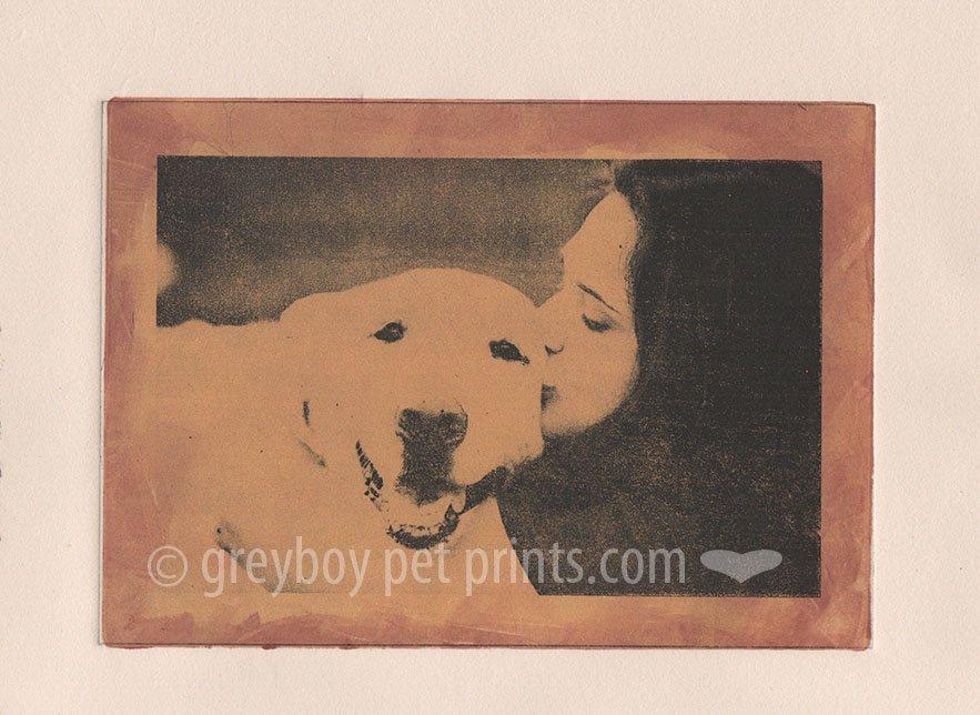 Greyboy Pet Prints etching