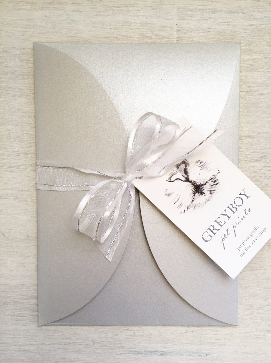Gift Certificate Wrapped for Pet Portrait