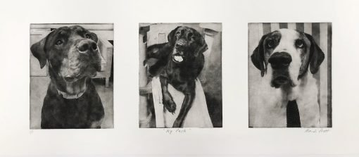 Dog-Art-Collage-Trio-Dogs