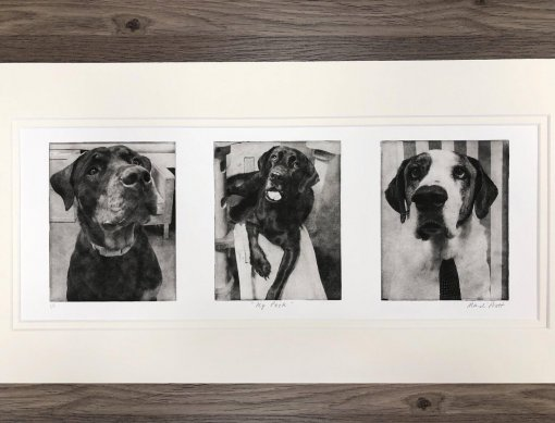 Dog-Portrait-Collage-in-mat