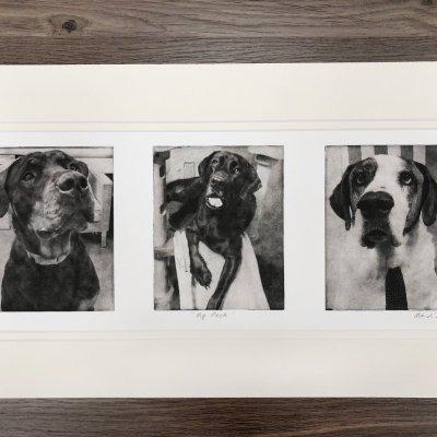Custom collage etchings