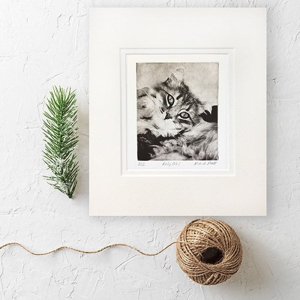 Christmas Cat-Portrait-Gift-