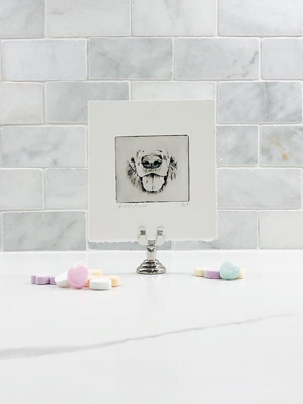 Valentine pet art Gift for dog mom