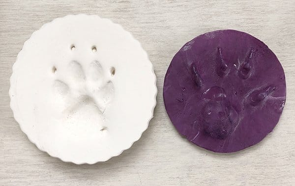 Paw print Impression mold example