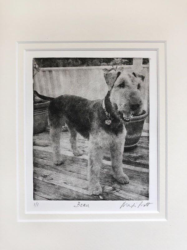 Greyboy Pet Prints Custom Dog Portrait Beaux