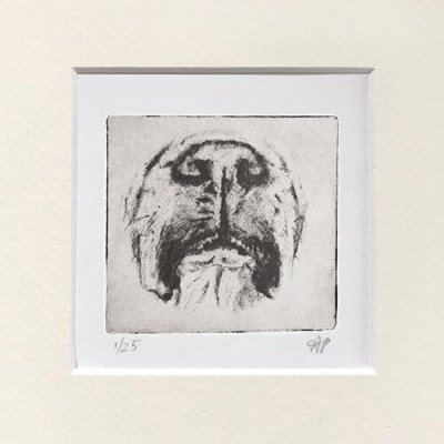Boxer Dog Art Cute Face