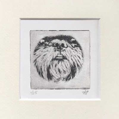Shihtzu Dog Art Nose in Mat