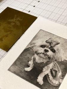 Creative custom dog portrait gift for dog mom of shih tzu