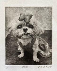 Cutest custom dog portrait giftof little shih tzu for pet loss
