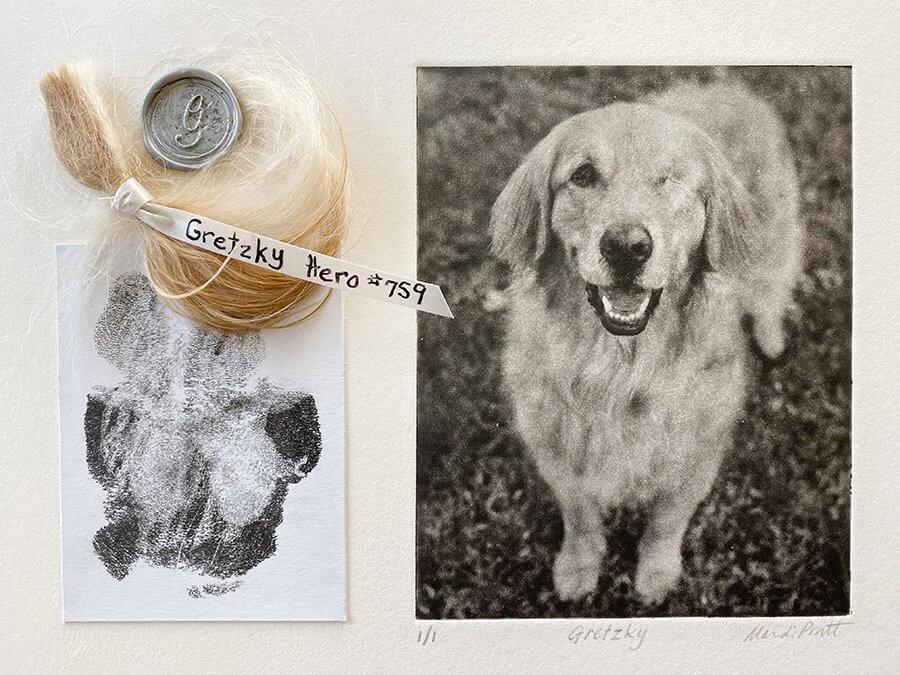 Pet Memorials Paw Prints ashes fur