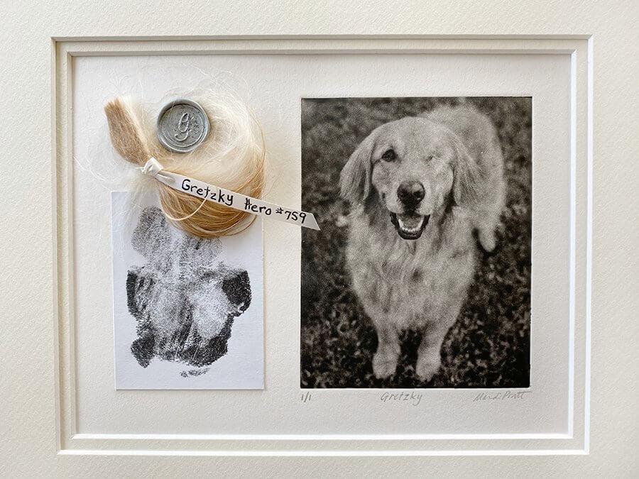 Creative Pet Memorials with Paw Prints for Golden Retrieve