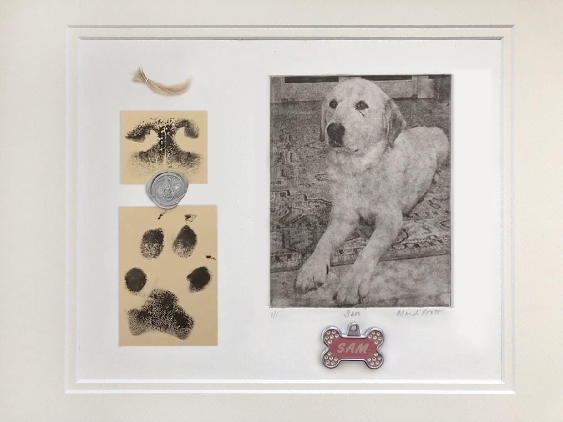 Say Goodbye Pet Sam Memorial Art